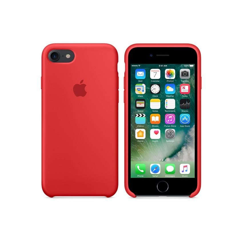 Original Apple Case Hard Silicone iPhone 8 Plus / iPhone 7 Plus Red Retail