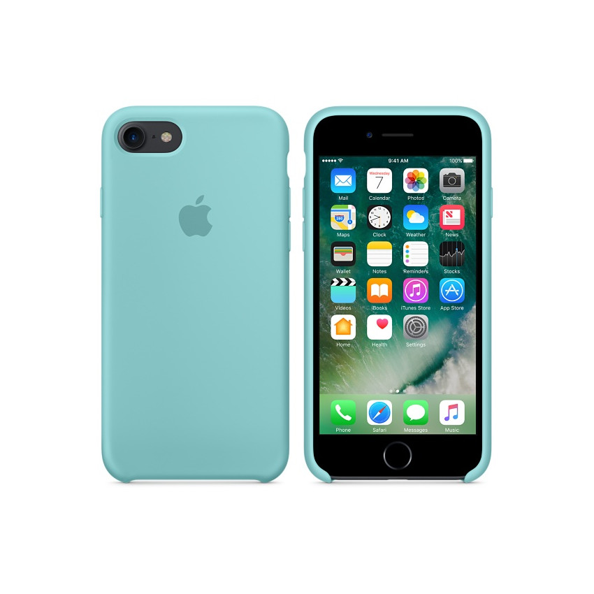 Original Apple Case Hard Silicone iPhone 7 Sea BlueRetail