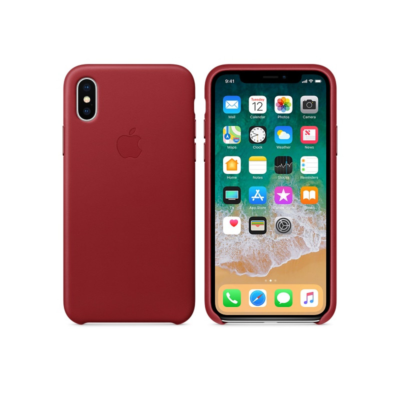 Original Apple Case Hard Leather Case iPhone 8 Plus / iPhone 7 Plus Red Retail