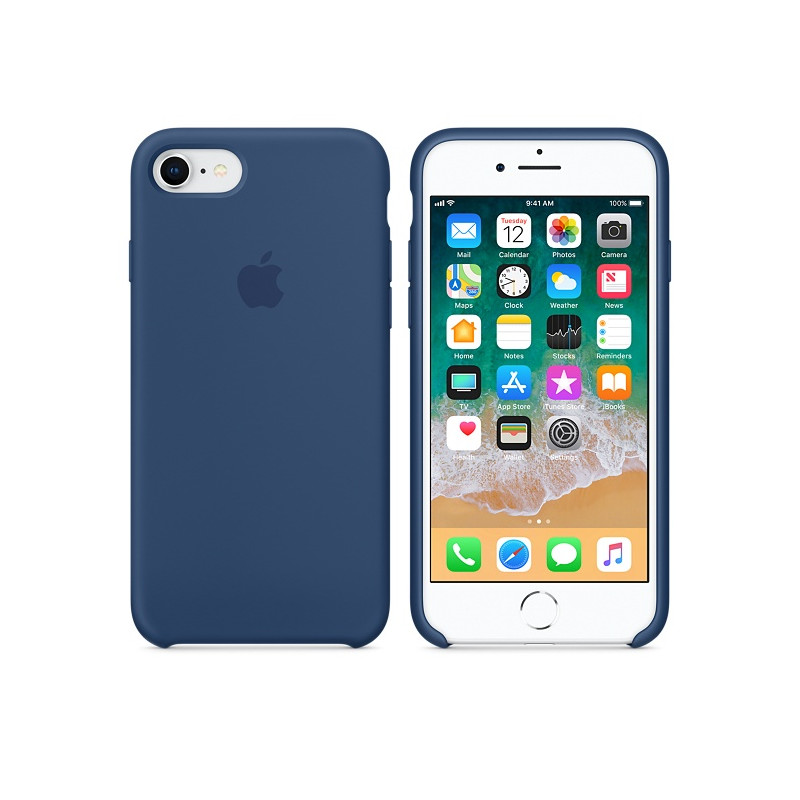 Original Apple Case Hard Silicone iPhone 8 / iPhone 7 Blue Cobalt Retail