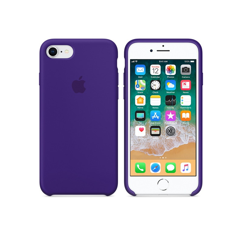 Original Apple Case Hard Silicone iPhone 8 / iPhone 7 Ultra Violet Retail