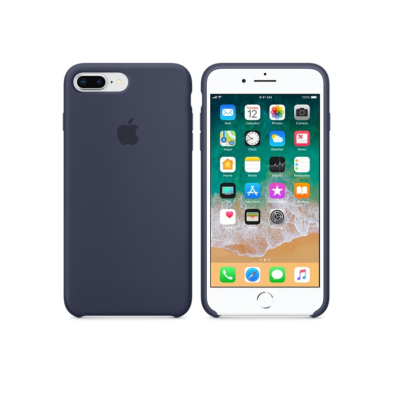 Original Apple Case Hard Silicone iPhone 8 Plus / iPhone 7 Plus Midnight Blue Retail