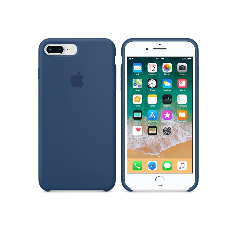 Original Apple Case Hard Silicone iPhone 8 Plus / iPhone 7 Plus Blue Cobalt Retail
