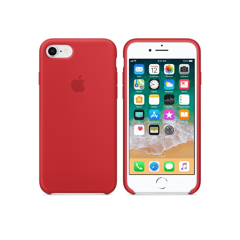 Original Apple Case Hard Silicone iPhone 8 Plus / iPhone 7 Plus Red Retail