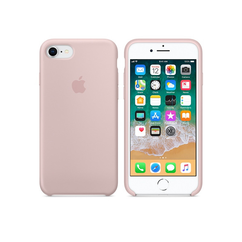 Original Apple Case Hard Silicone iPhone 8 Plus / iPhone 7 Plus Pink Sand Retail