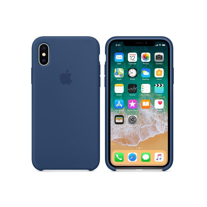 Original Apple Case Hard Silicone iPhone X Blue Cobalt Retail
