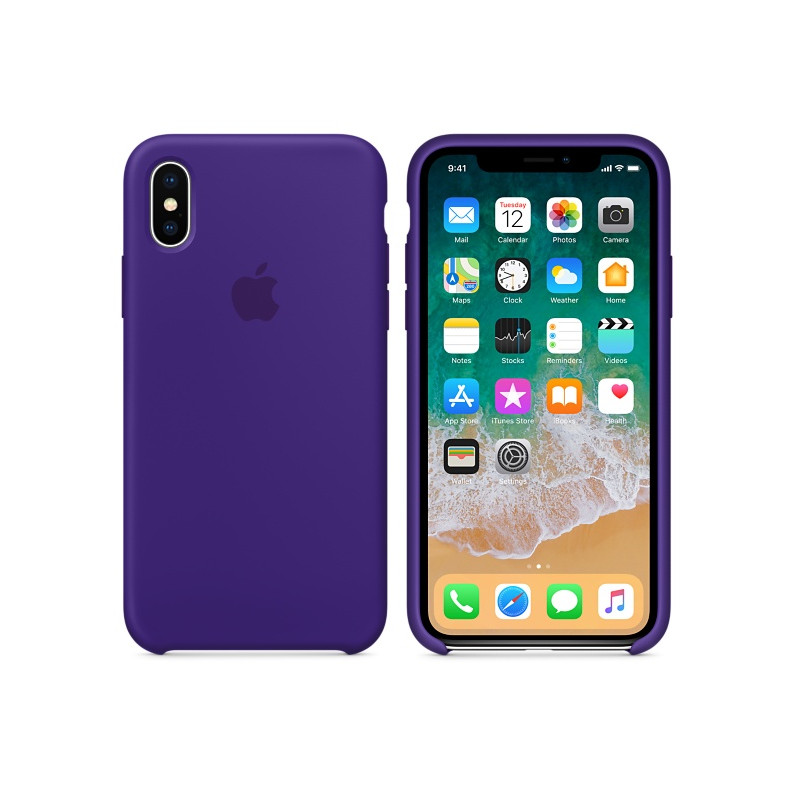 Original Apple Case Hard Silicone iPhone X Ultra Violet Retail