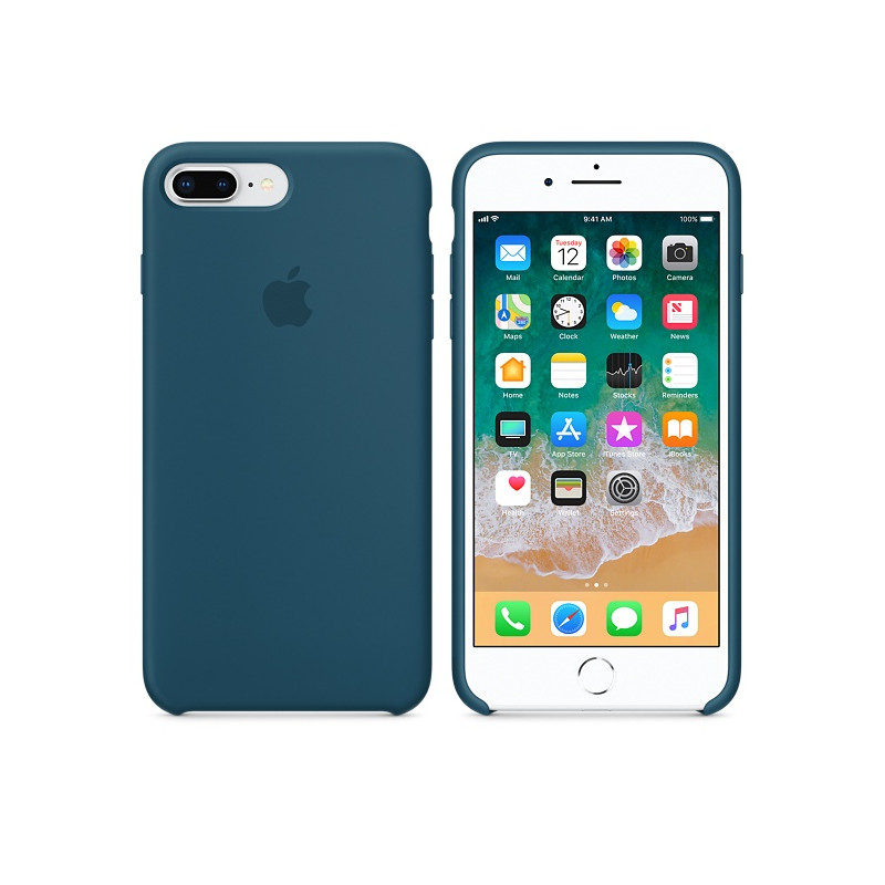 Original Apple Case Hard Silicone iPhone 8 / iPhone 7 Cosmos Blue Retail