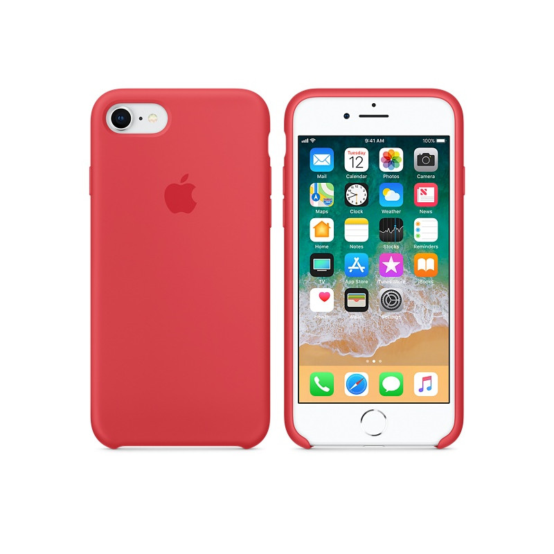 Original Apple Case Hard Silicone iPhone 8 / iPhone 7 Raspberry Retail