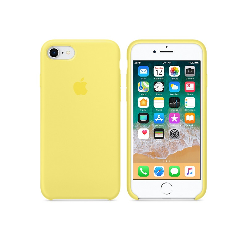 Original Apple Case Hard Silicone iPhone 8 / iPhone 7 Lemonade Retail