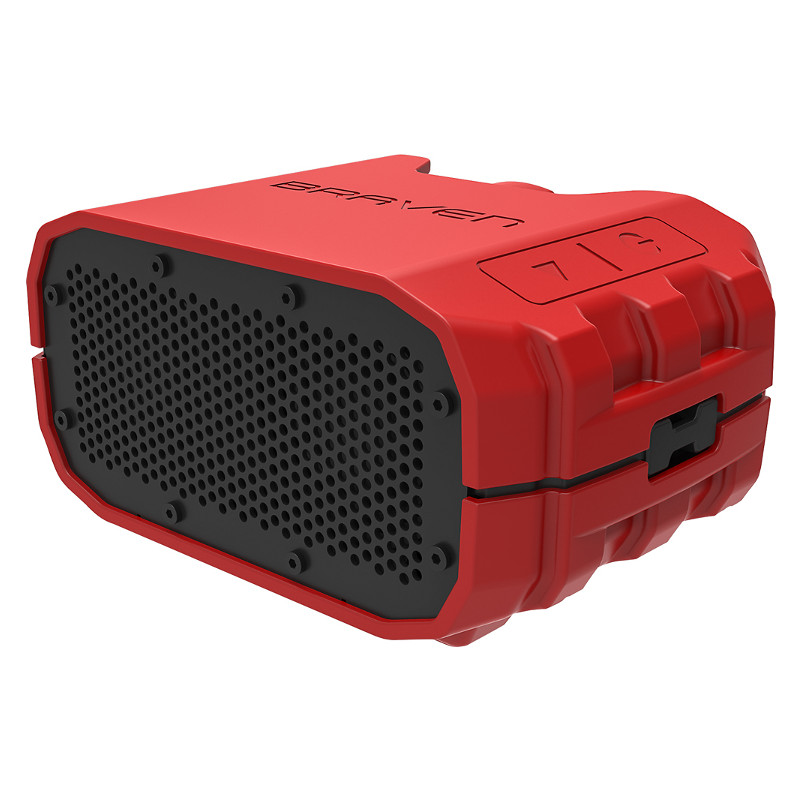 Original Braven WaterProof IPX7 Ultra-Rugged Bluetooth Power bank 1800 mAh Speaker Red