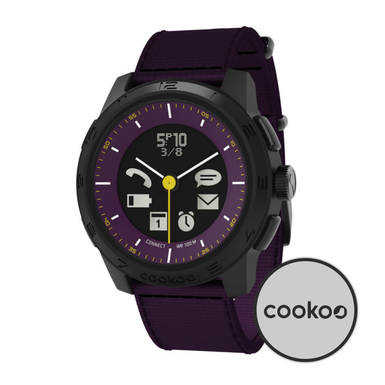 Original cookoo2 Bluetooth Watch Urban Explorer Black on Eggplant