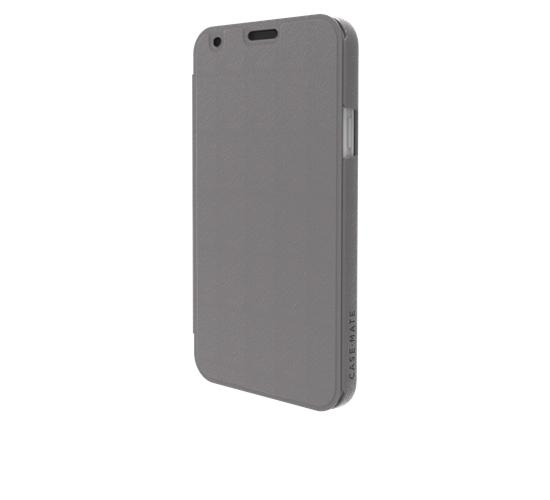 Original Case-Mate Samsung Galaxy S5 G900 Barely There Slim Folio - Titanium Grey/Iris��