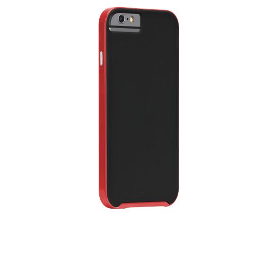 Original Case-Mate iPhone 6 Slim Tough - Black/Red Bumper