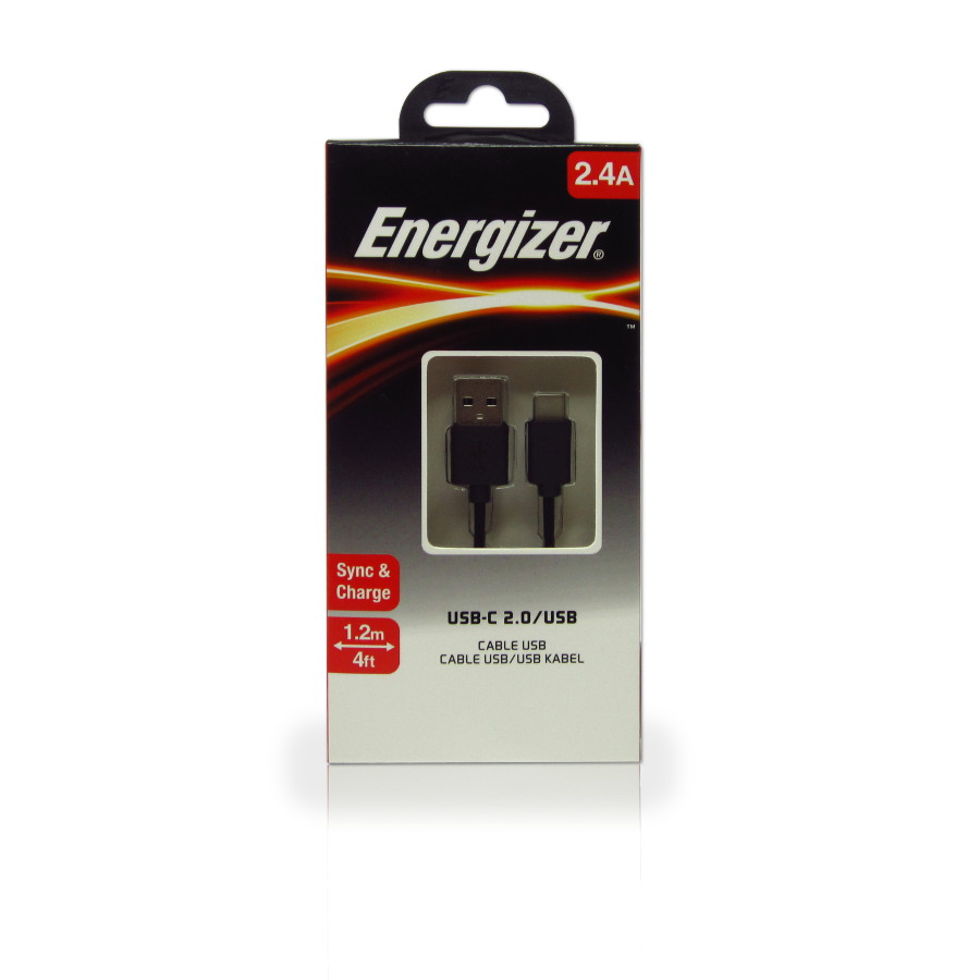 Original Energizer Data Cable Type C 1.2m Black Retail