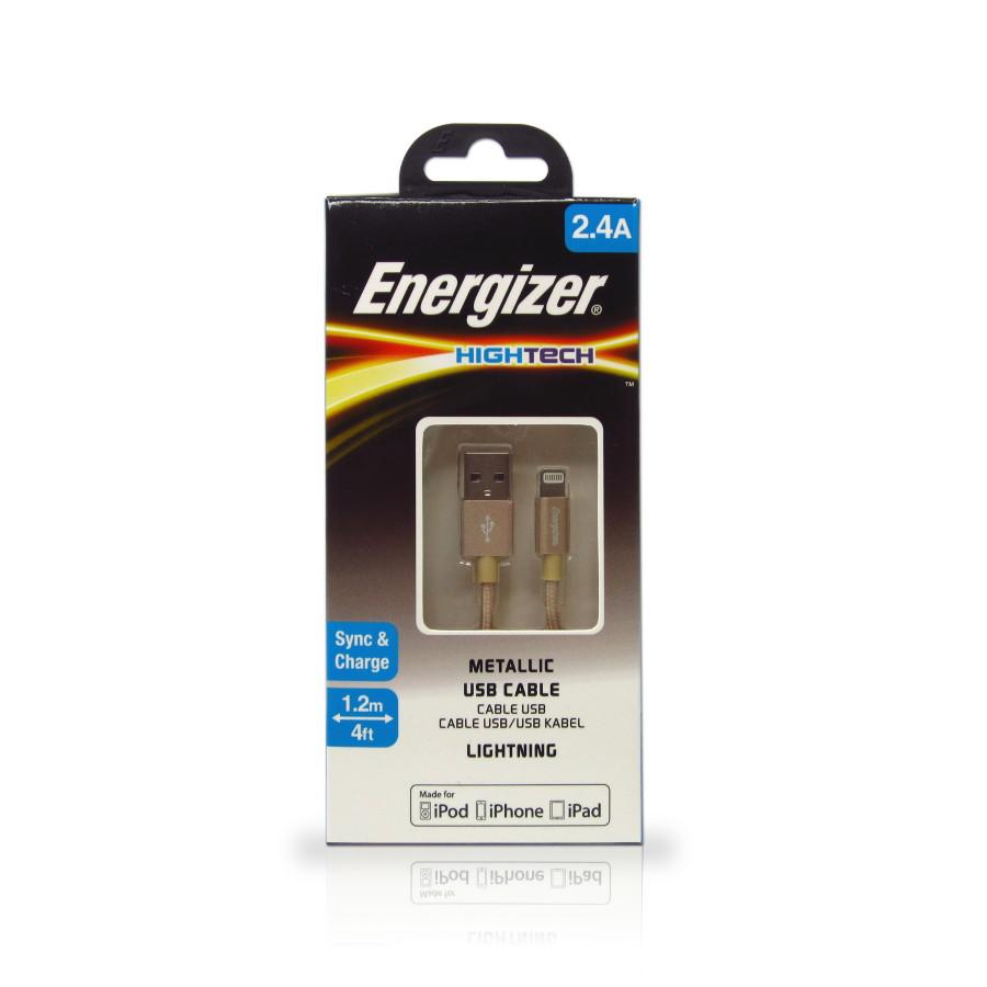 Original Energizer Data Cable Lightning High Tech MFI 4ft / 1.2m Metallic Gold Retail