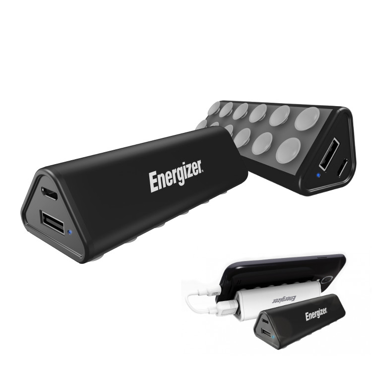 Original Energizer Power Bank 2200 mAh Universal w/ Suction Cups Stand System Black Retail