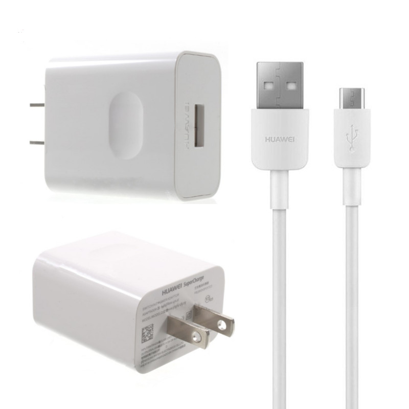 Original Huawei Travel Charger SUPER Charge 2AMP Power Plug with TYPE C Data Cable White - Bulk