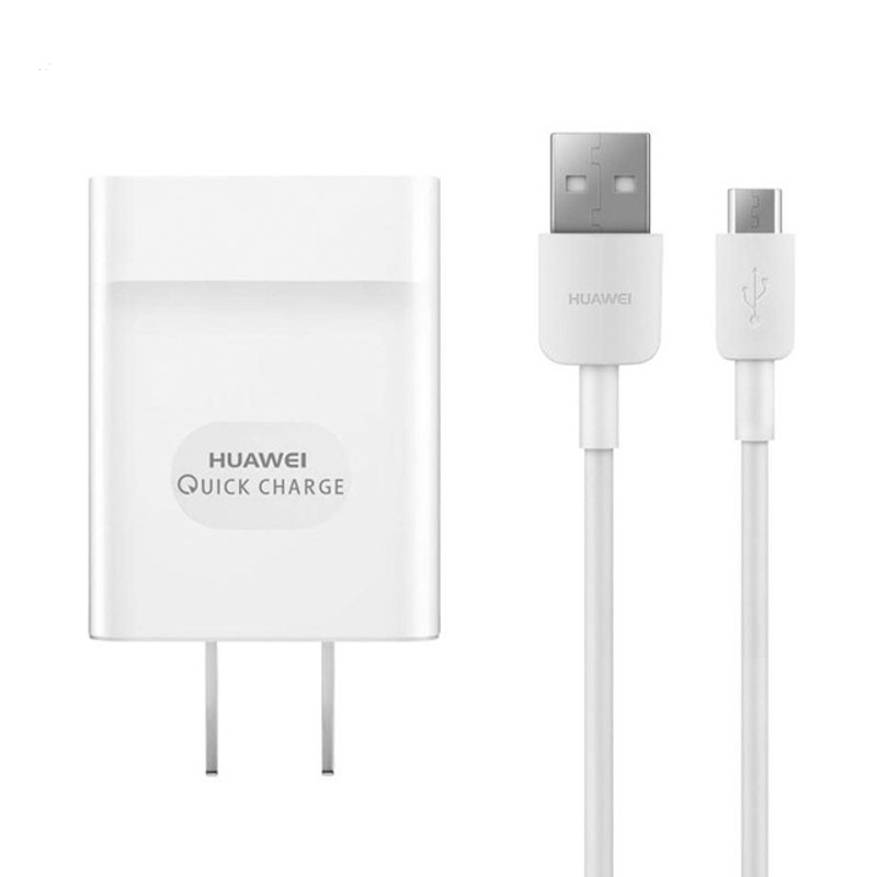 Original Huawei Travel Charger Quick Charge 2AMP Power Plug with TYPE C Data Cable White - Bulk