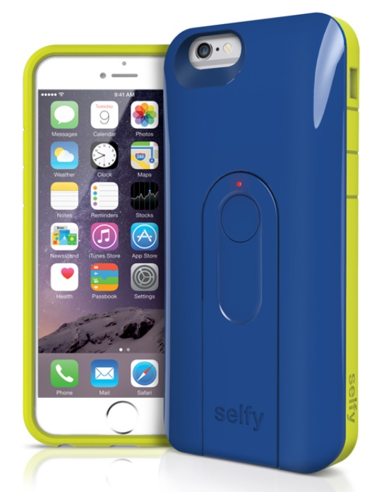 Original iLuv Case  iPhone 6 Selfy - Dual piece Case w/Remote Shutter Blue