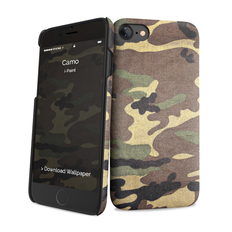 Original i-Paint Case iPhone 7 Hard CAMO
