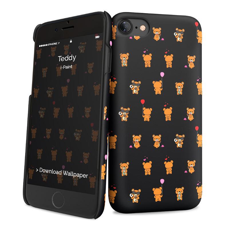 Original i-Paint Case iPhone 7 Hard TEDDY