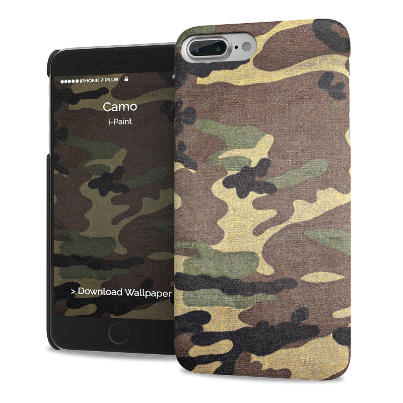 Original i-Paint Case iPhone 7 Plus Hard CAMO