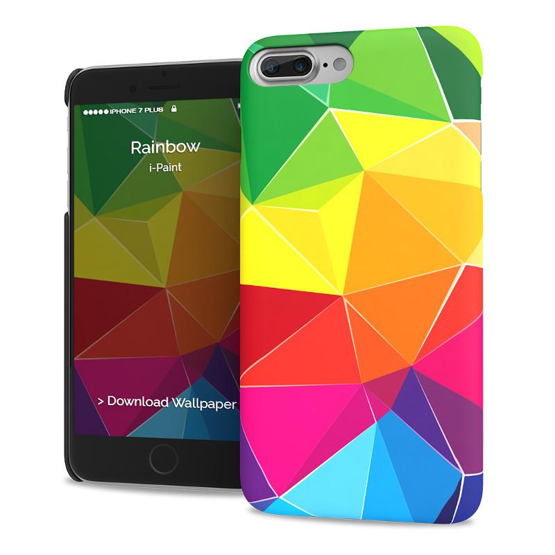 Original i-Paint Case iPhone 7 Plus Hard RAINBOW