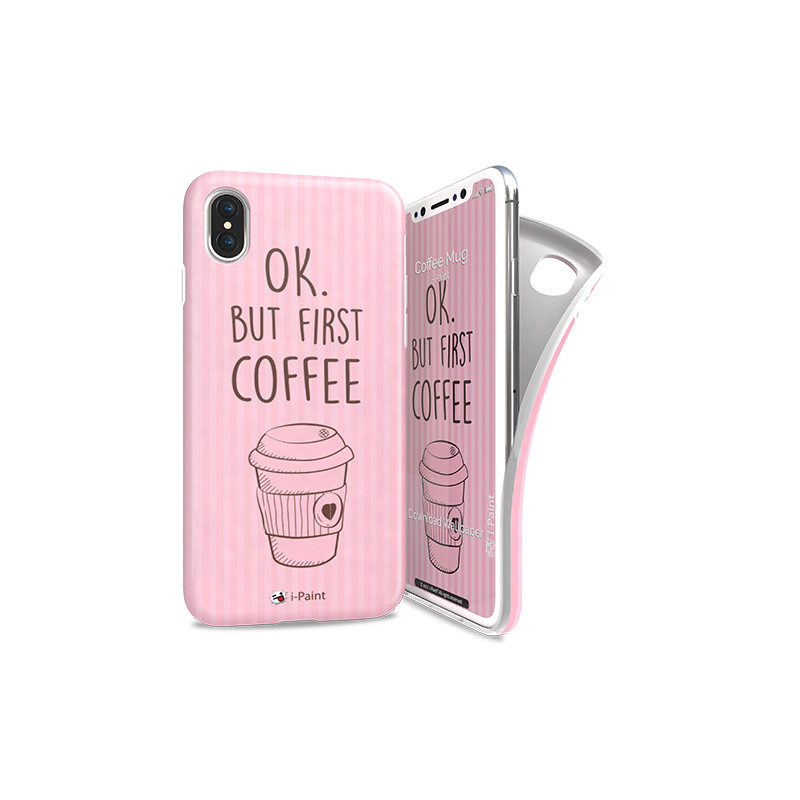 Original i-Paint Case iPhone X Soft Case Coffee Mug