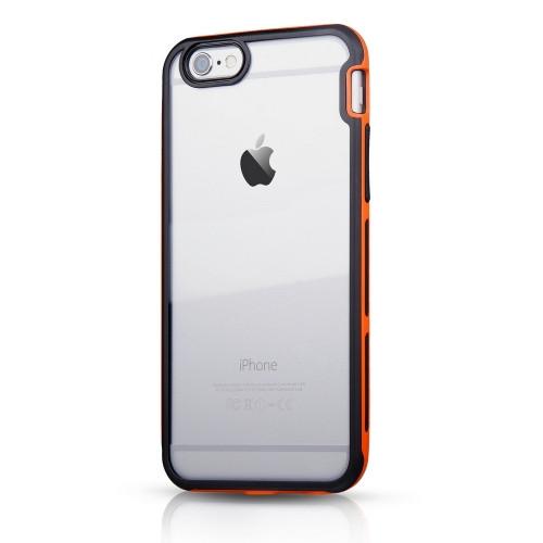 """Original ITSKINS Case Venum Reloaded  iPhone 6 Plus 5.5"""" Clear / Black-Orange Retail"""