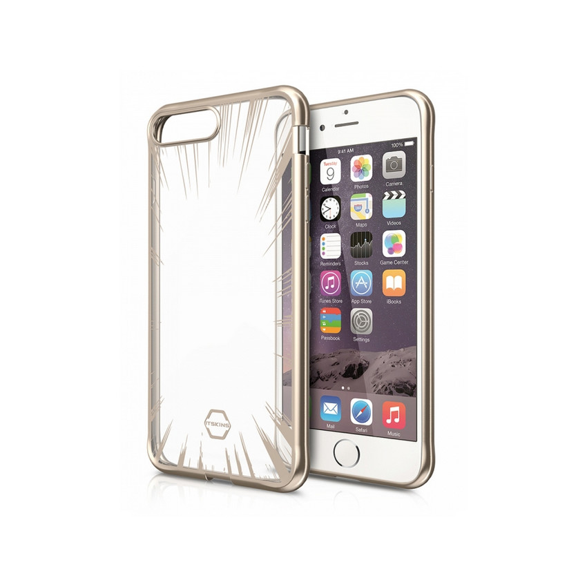 Original ITSKINS Case Art Gel iPhone 7 plus Glass gold Retail