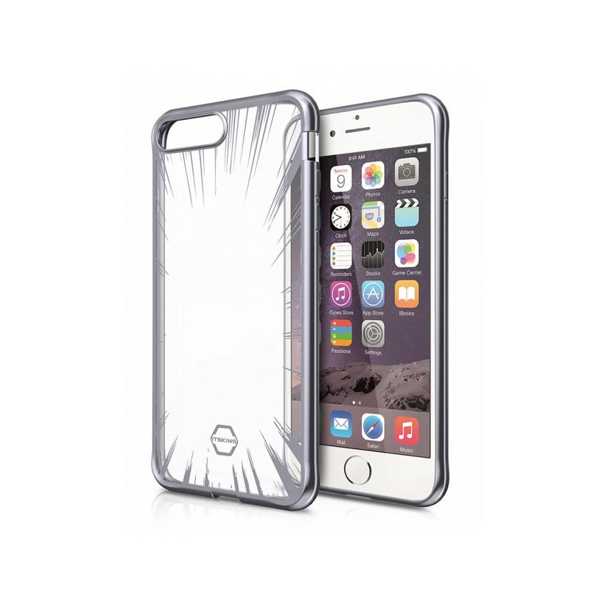 Original ITSKINS Case Art Gel iPhone 7 plus glass space grey Retail