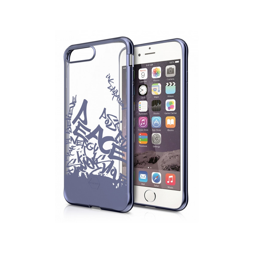 Original ITSKINS Case Art Gel iPhone 7 plus Street Art blue steel Retail