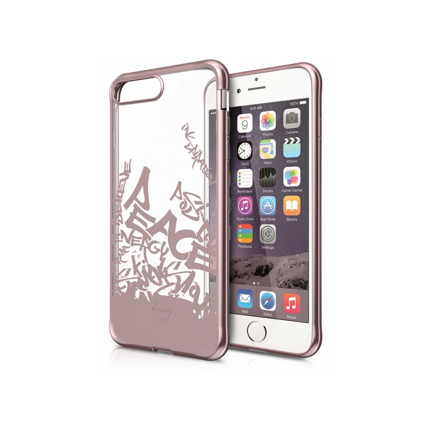 Original ITSKINS Case Art Gel iPhone 7 plus Street Art Rose gold Retail