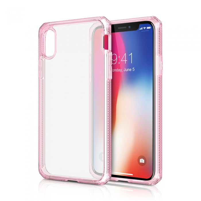 Original ITSKINS case Hybrid iPhone X Light Pink Retail