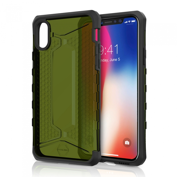 Original ITSKINS case Octane iPhone X KAKI Retail