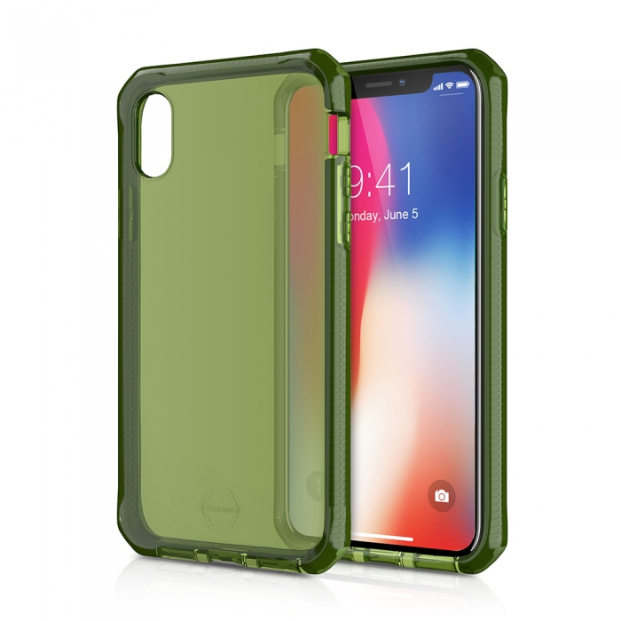 Original ITSKINS case Supreme iPhone X KAKI Retail