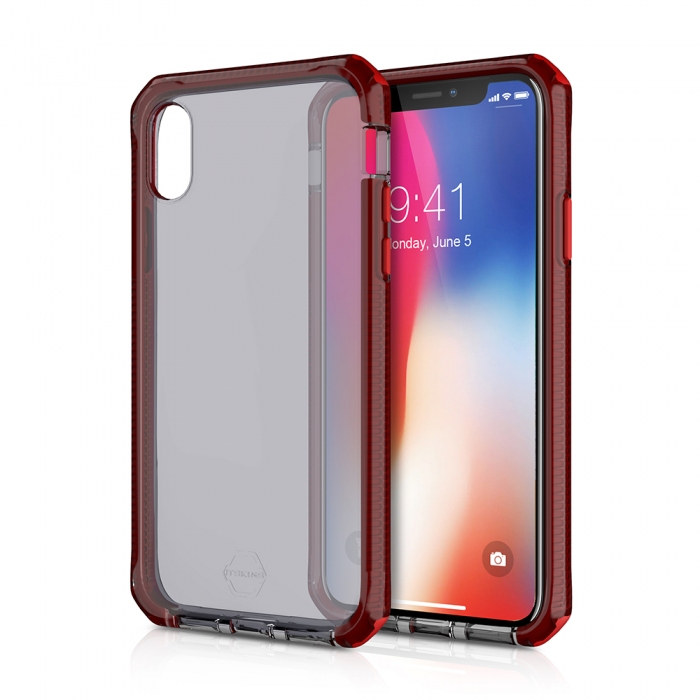 Original ITSKINS case Supreme iPhone X red and black Retail