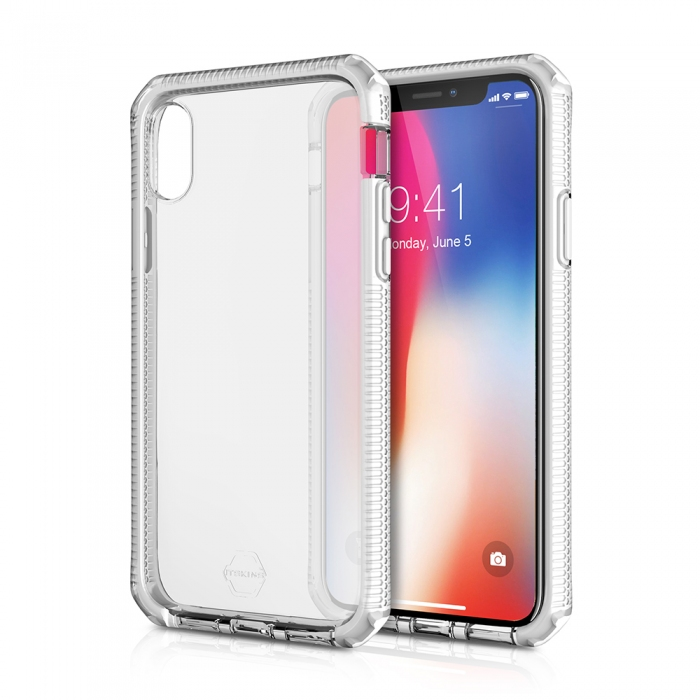Original ITSKINS case Supreme iPhone X white and transparent Retail