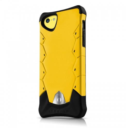 Original ITSKINS Case Inferno iPhone 5C Yellow Smooth Retail
