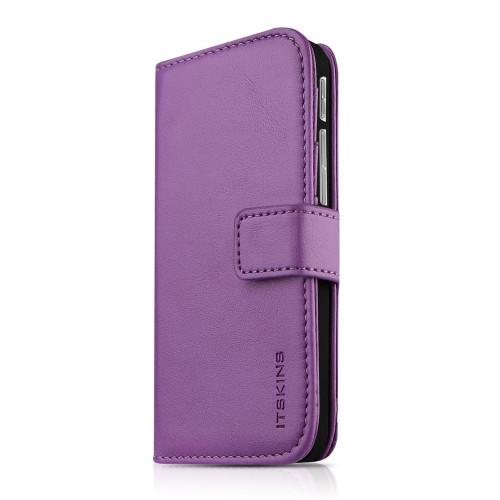 Original ITSKINS Case Wallet Book HTC One M8 Purple Retail