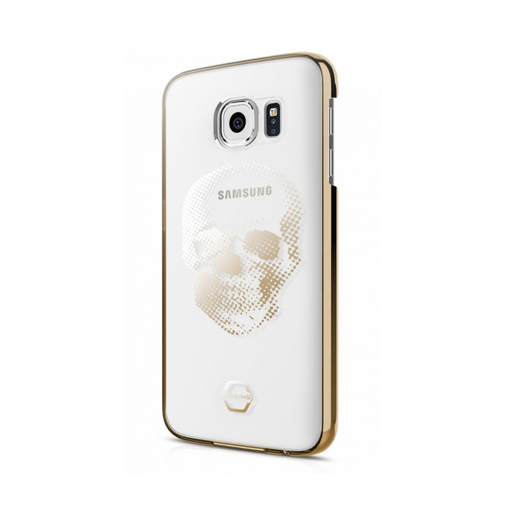 Original ITSKINS Case KROM Galaxy S7 Big Skull Gold Retail