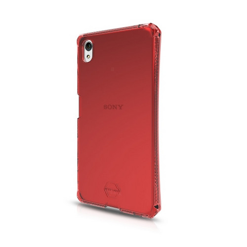 Original ITSKINS Case Spectrum Sony Z5 Clear Red Retail