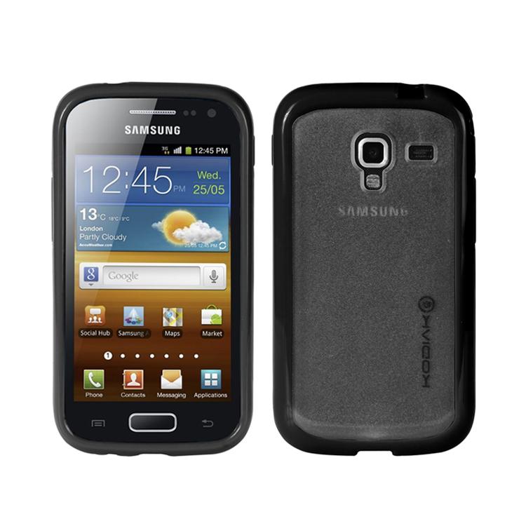 Original Kodiak Fuzion Case Samsung Galaxy Ace 2 / I8160  Black - Smoke with Anti-Fingerprint Protector in Retail