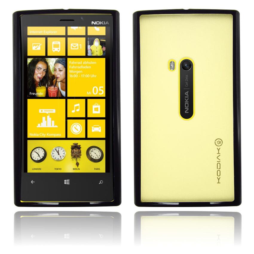 Original Kodiak Fuzion Nokia Lumia 920 Black-Clear with Anti-Fingerprint Protector in Retail