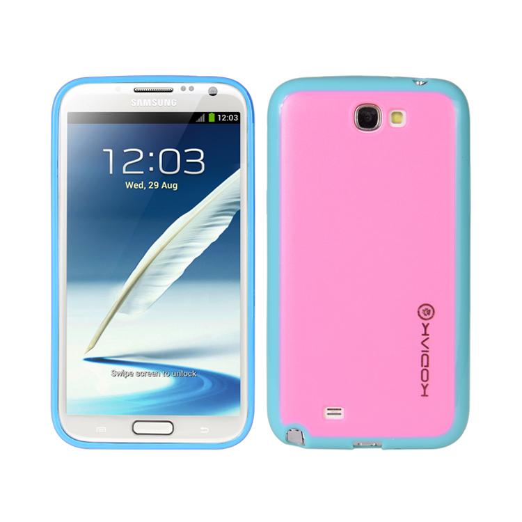 original-kodiak-fuzion-case-samsung-galaxy-note-ii-n7100-light-blue-pink-with-anti-fingerprint-protector-in-retail