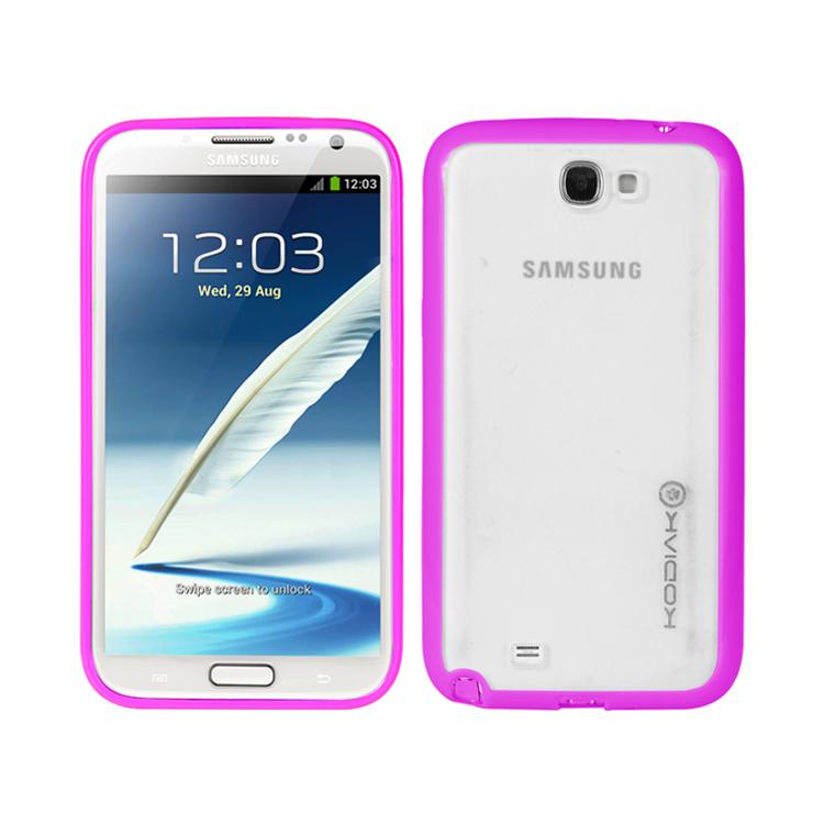 original-kodiak-fuzion-case-samsung-galaxy-note-ii-n7100-purple-clear-with-anti-fingerprint-protector-in-retail