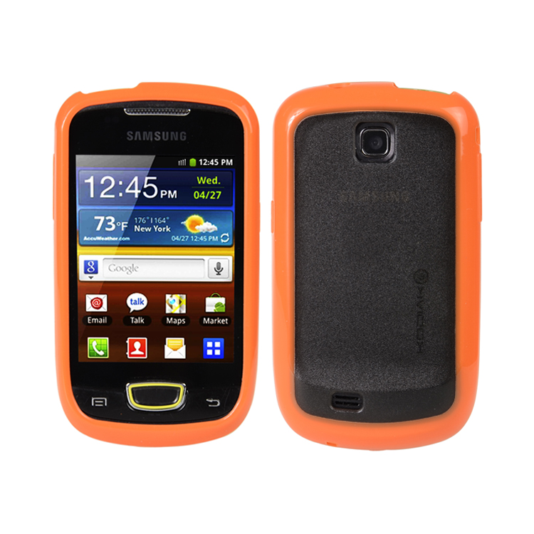 Original Kodiak Fuzion Case Samsung Galaxy Mini / S5570 Orange - Smoke with Anti-Fingerprint Protector in Retail