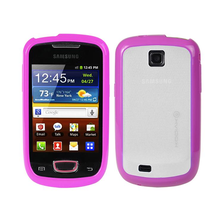 original-kodiak-fuzion-case-samsung-galaxy-mini-s5570-purple-clear-with-anti-fingerprint-protector-in-retail