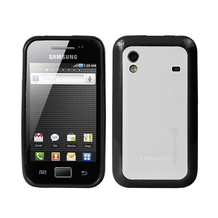 Original Kodiak Fuzion Case Samsung Galaxy Ace / S5830 Black - Clear with Anti-Fingerprint Protector in Retail